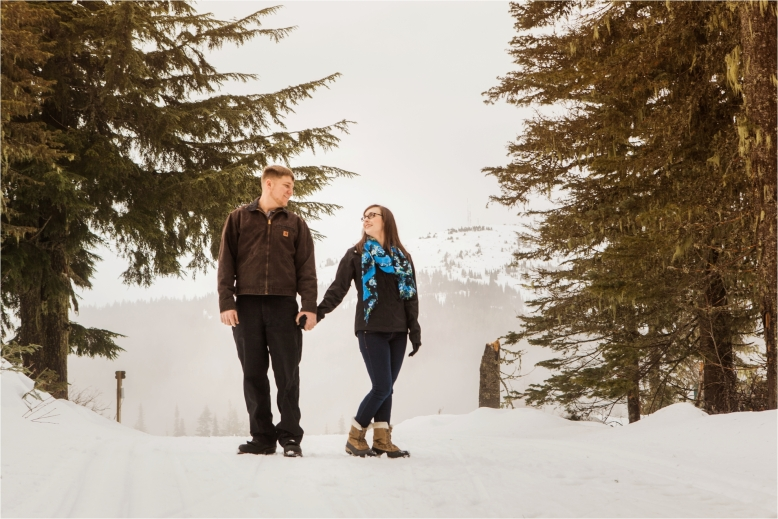 Mount Spokane Engagement Session